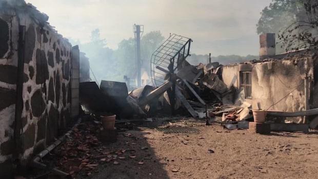 Tv-profilens krog ödelagd efter brand