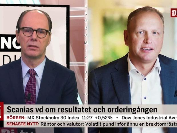 """Scanias vd om orderingången: """"Avtrappning i Kina"""""""