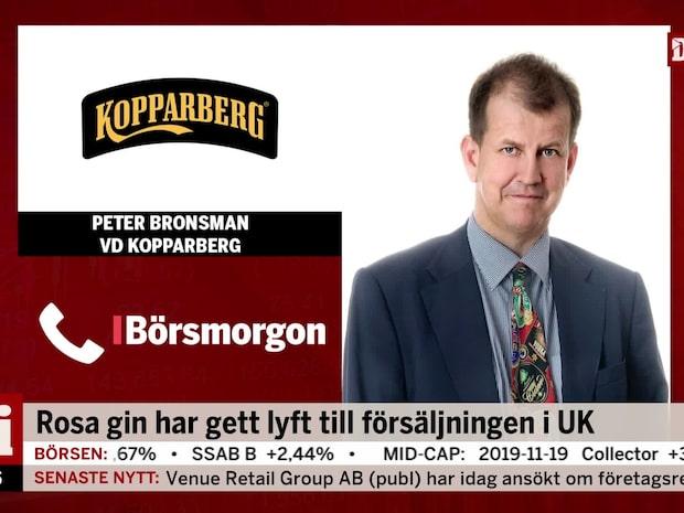 Kopparbergs vd om starka siffrorna: Pink gin försäljningen driver på