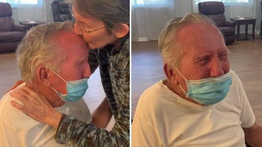Parets splittrades av covid-19 –återförenas i tårar efter 200 dagar