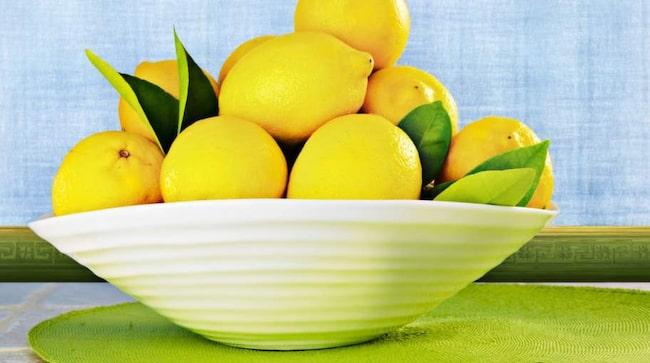 rengöra duschkabin citron