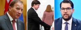 Talmannen i möte  med Lööf och Löfven