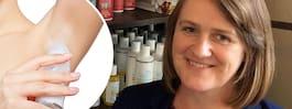 Martina säljer deo  till barn – får kritik