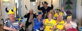 Äldreboendet firade VM med öl och sång