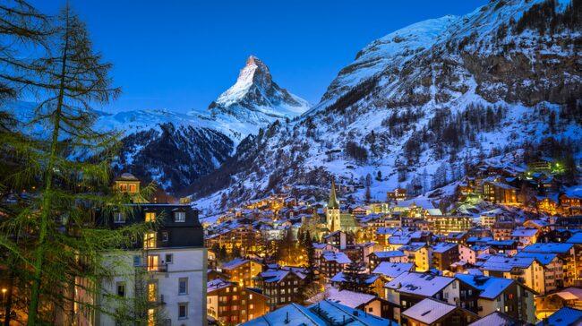Zermatt i Schweiz är en favorit för många svenska skidturister.
