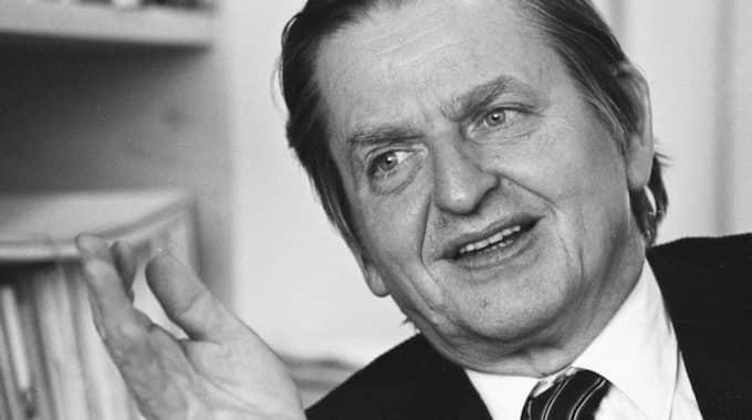 Sveriges statsminister Olof Palme sköts till döds den 28 februari 1986. Foto: Urban Brådhe
