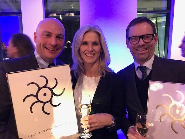 SAS vann två priser: Bästa flygboalg Europa och Bästa transport inrikes.