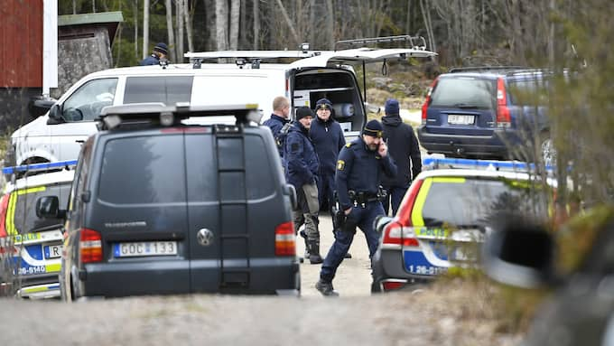 Tova Moberg hittades på botten runt 20 meter ut i vattnet vid en gård söder om Hudiksvall. Foto: ALEX LJUNGDAHL