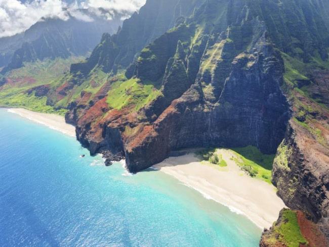 <span>Vissa delar av Kauai på Hawaii kan man bara nå med en helikopter.<br></span>