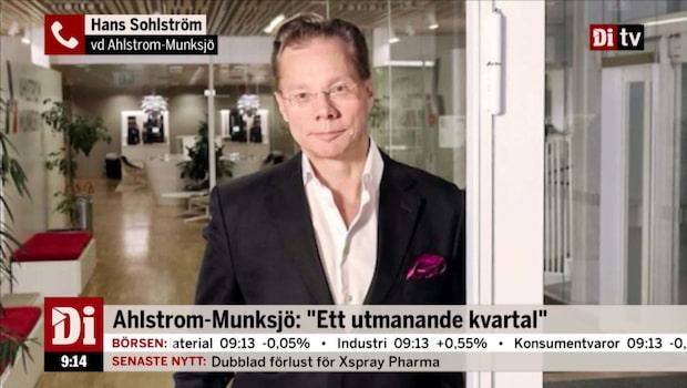 Ahlstrom-Munksjö's VD om resultatutvecklingen