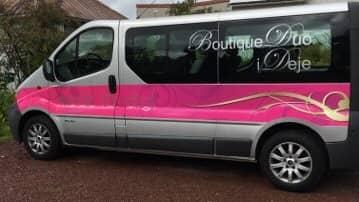 """Den så kallade """"Duo-bussen"""" tar kunder från Karlstad till Deje. Foto: Privat"""