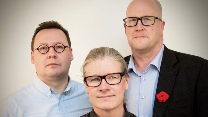 Johan Ulvenlöv, Matti Palm och Anders Larsson. Foto: Pressfoto