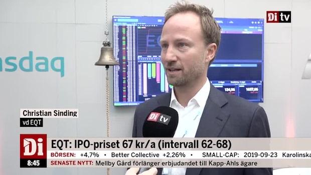 EQT:s notering den största sedan Telia år 2000