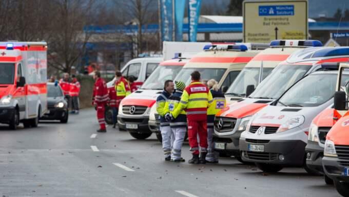 Många av de drabbade var pendlare mellan München och Rosenheim. Foto: Sven Hoppe / Epa / TT
