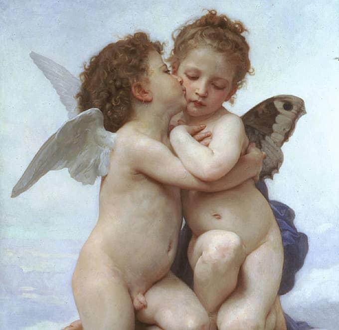 BARNPORR? Cupid och Phsyche av William Bouguereau 1889.