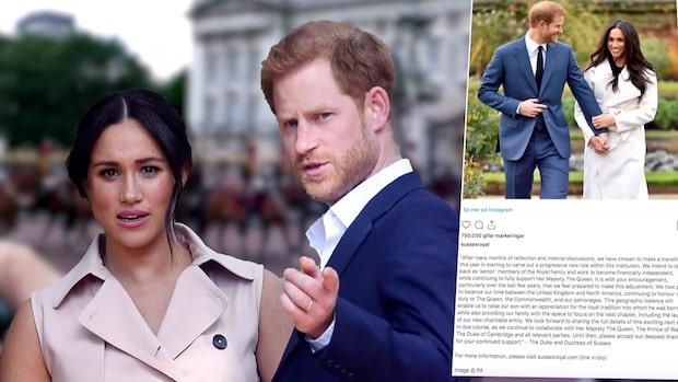Prins Harry och Meghan kritiseras efter beslutet