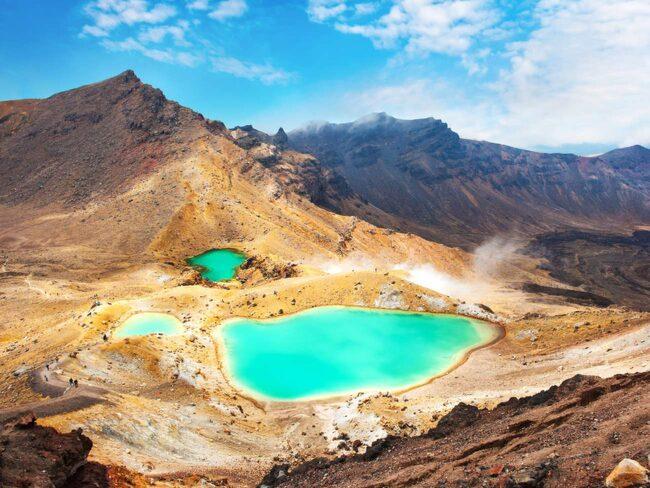 Vulkanen Tongariro på Nya Zeelands nordö.
