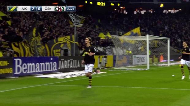 Kristoffer Olsson ger AIK ledningen