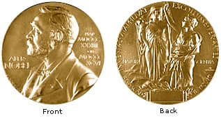 Så ser medaljen ut. Till priset kommer också pengar. Cirka tio miljoner kronor.
