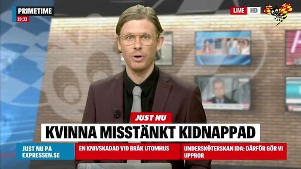Kvinna misstänks ha blivit kidnappad