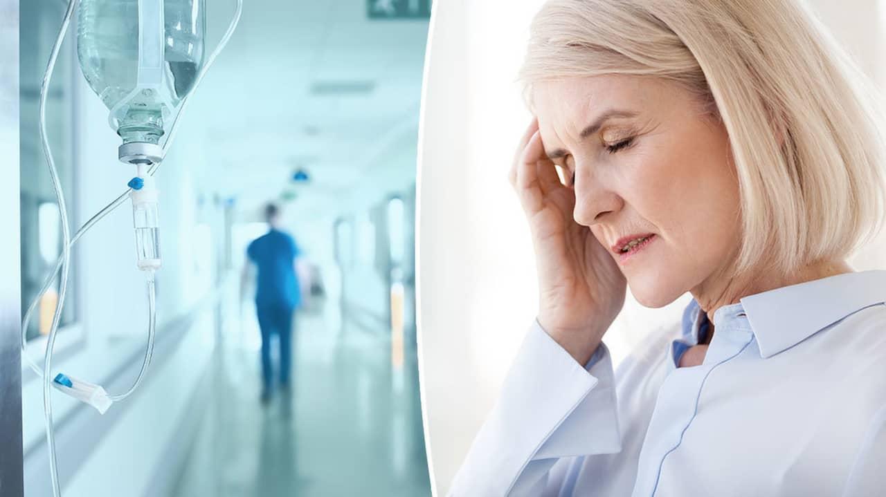 hög feber och huvudvärk