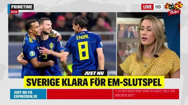 """Sverige klart för EM-slutspel: """"Stark insats av Sverige!"""""""