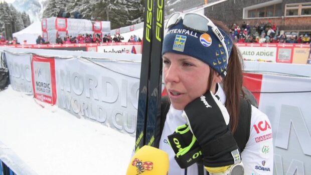 """Charlotte Kalla: """"Hade svårt att få fast skidorna"""""""