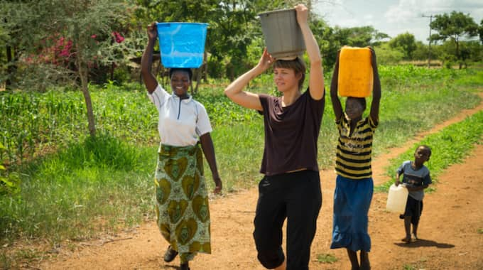 Karin Kling spenderade en månad som jordbrukare i Malawi. Foto: We effect/Adam Öjdahl