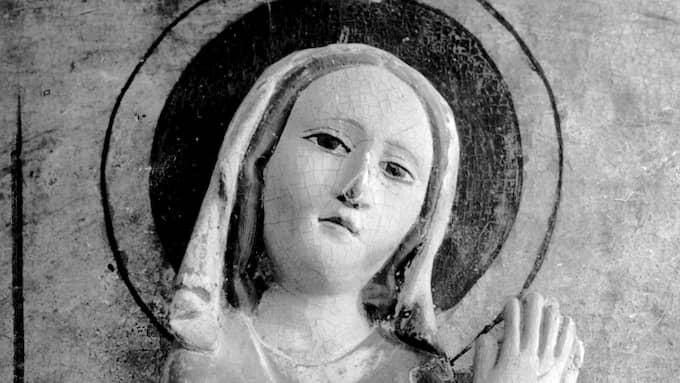 Madonnabild från 1200-talet från Slite kyrka, Gotland. Foto: REFOT / REFOT