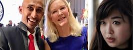 Svenska ambassadören på  bröllop – med affärsmännen
