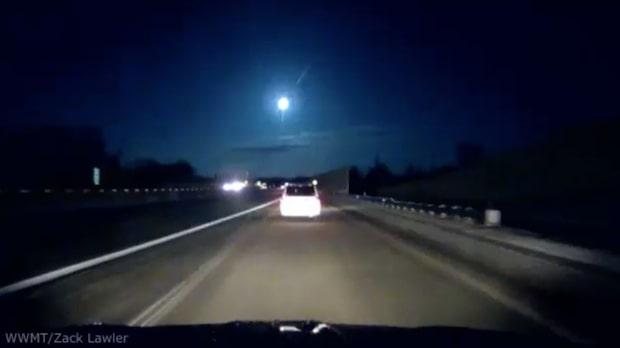 Spektakulär meteor lyste upp himlen i Michigan