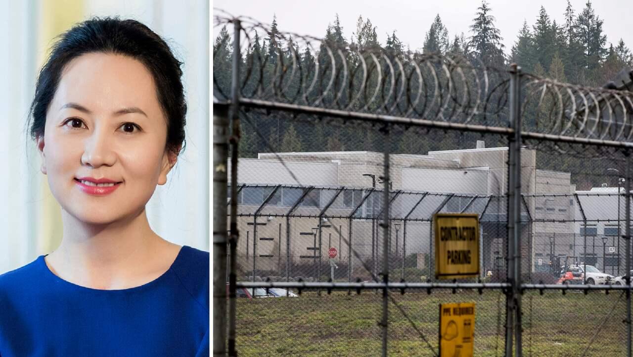 Huawei-chefen Meng Wanzhou släppt mot borgen