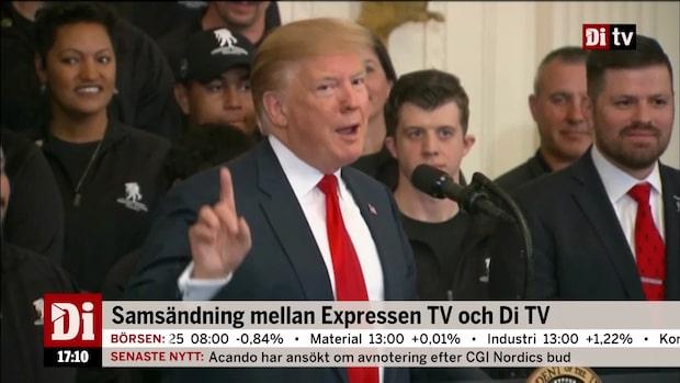 "Donald Trump om Mueller-rapporten: ""Har en bra dag"""