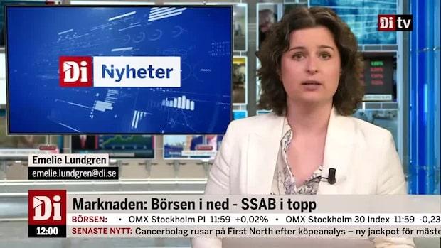 Di Marknadsnytt 12.00: SAS rasar på kapitaliseringsplan