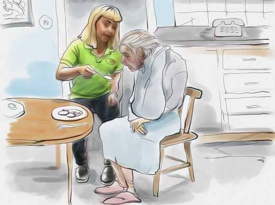 """""""Jag söker jobb som timvikarie i hemtjänsten hos det privata företaget Bonitas"""". Foto: Grafik: Helén Rasmusen"""