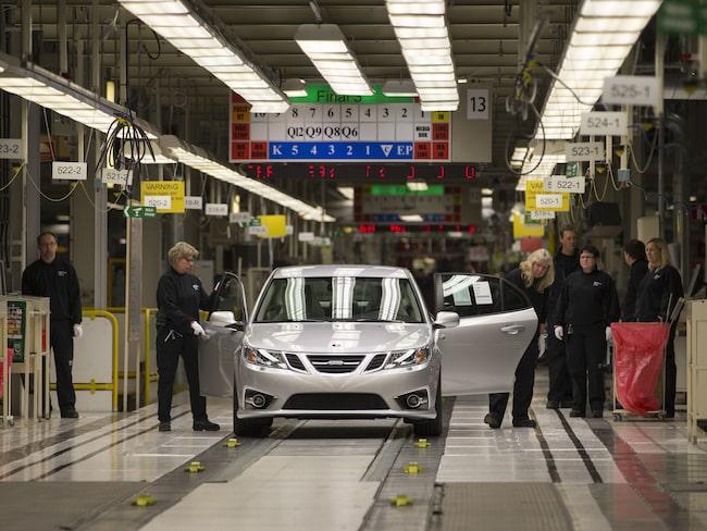 Redan 2013 – för fyra år sedan byggde Nevs sin första bil i fabriken i Trollhättan.