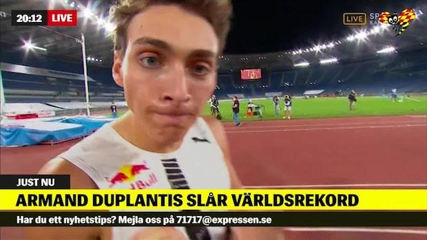 """Armand Duplantis slår världsrekord: """"Högt över ribban"""""""