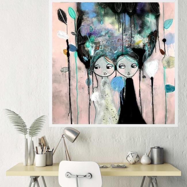 """Endast ett ex! Originalmålningen """"Celebration"""" av konstnären Karolina Palmér. Klicka på plusset i bilden för att handla i LEVA&BO:s webbutik."""