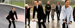 Prinsens tur på  kickbike i skatepark