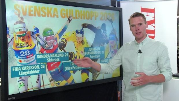 Fem svenska guldhopp i OS 2026