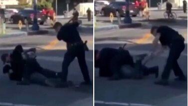 Polis slår liggande biltjuv – igen och igen
