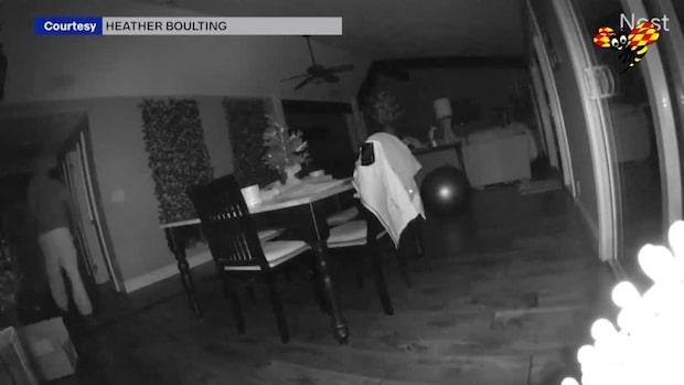 Hon får kalla kårar – när hon ser videon från hemmet
