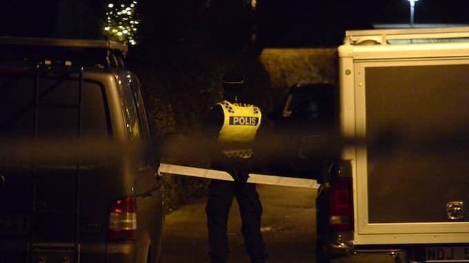 I tisdags hittades de fyra familjemedlemmarna döda i tvåplansvillan. Foto: FRITZ SCHIBLI / EXPRESSEN/KVÄLLSPOSTEN