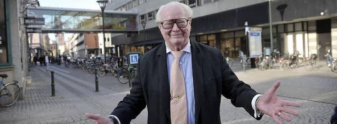 ÅTERVÄNDARE. Jan Malmsjö på Malmborgsgatan i Malmö, ett stenkast från Hipp där allt började 1941. Foto: Lasse Svensson