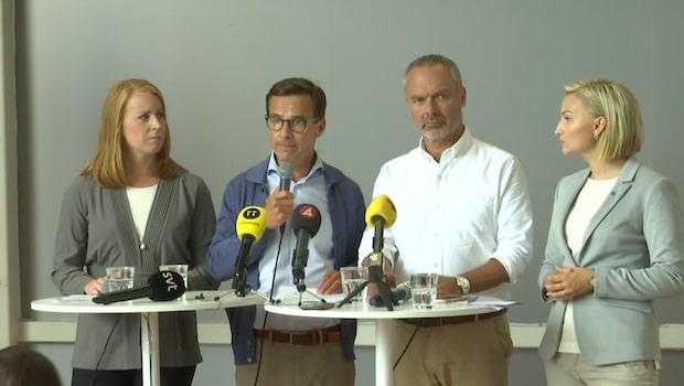 "Ulf Kristersson: ""Vi ska inte sprida rykten"""