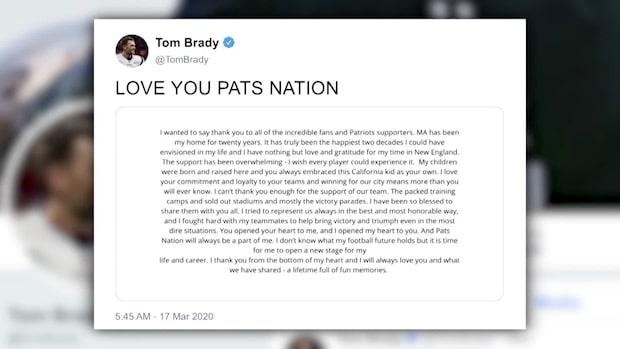 Bomben: Tom Brady lämnar efter 20 år