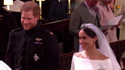 """Här säger prins Harry och Meghan """"I will"""" till varandra"""