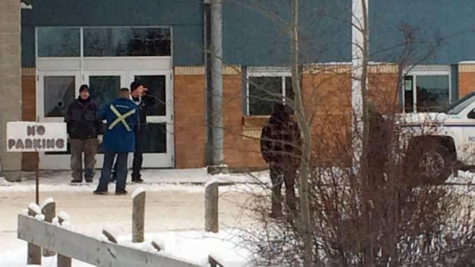 Fem uppges ha dött i en skolskjutning i Kanada. Foto: Joshua Mercredi