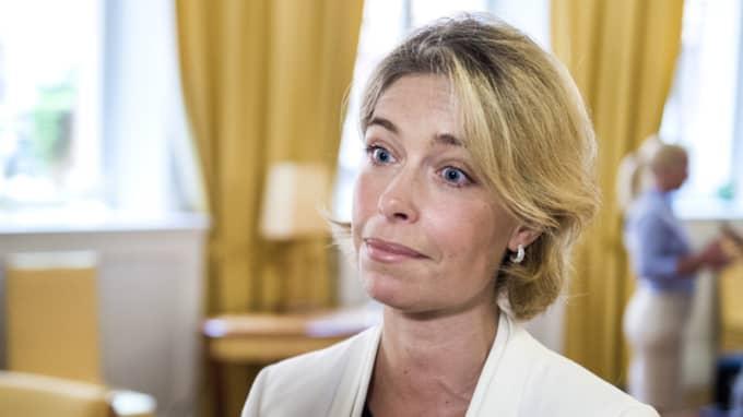 Annika Strandhäll var tidigare ordförande i fackförbundet Vision och hon hyr i nuläget en 100 kvadratmeter stor lägenhet på Östermalm i en fastighet som ägs av Vision. Foto: Marcus Ericsson/Tt