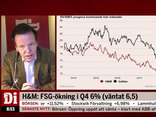 """Petersson: """"H&M kan ha minskat varulagret igen"""""""